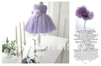 Free shipping  international best-selling girl dress children's clothing children dress purple veil