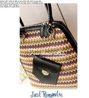 2013 the new leisure fashion joker single shoulder bag multi-functional leather stitching zipper dual-use bag backpack female