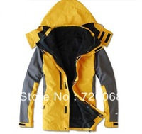 free shipping 2013 new two-piece Outdoor Men Jackets Breathable outdoor clothing warm genuine male models