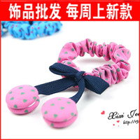 Free Shipping Accessories hair accessory preppy style cute hair band chittering ring hair rope a94