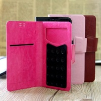 Universal Sucker Flip Leather Case Cover For NEO N003 THL W11 THL W200 UMI X2 5 inch Android Phone