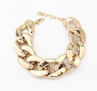 Fashion Cheap Fashion Christmas Gift Gold Chain Charm Chunky Bracelet For Women Men Jewelry Bangles Bracelets Free shipping