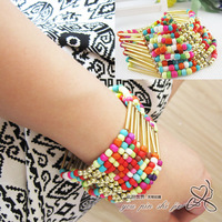 Beautiful fashion multi-layer candy color beaded bracelet bohemia fashion trend of the female