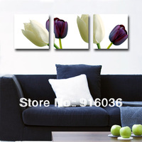 Hot selling Free shipping 3 piece Beautiful Flower Print Picture on The Wall Modern Abstract Art Painting Canvas Tulip pt375