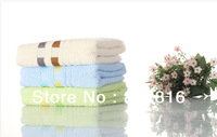 Free Shipping! 100% Cotton Plain Solid Color Home Beach Face Towel Adults Bath Towel 34x76cm 2pcs/lot