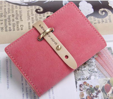 New Women's Synthetic PU Leather Clutches Small Money Clip Hand Bags Wallet Strap Open Scrub MINI Purse 26 Card Holers(China (Mainland))