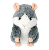 Gray / Grey  Color Hot Cute Speak Talking Sound Record Hamster Talking Plush Toy Animal
