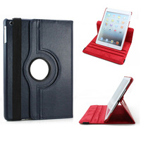 360 Degree Rotating Stand Magnetic PU Leather Case for iPad Air ipad 5 Smart Cover case for iPad5,1pcs/lot+free stylus+shipping