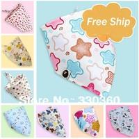 Big Promotion!!!  2pcs Girls Scarf Headband Baby Banddanas Fashion Children Cravat Infant Towel Cute Triangle Baby Bibs