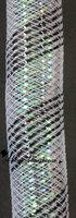 Black White Opalescent Cyberlox Tubular Crin 60yard 16mm