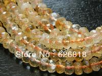 Wholesale natural quartz 5*8mm citrine crystal faceted rondelle beads stones