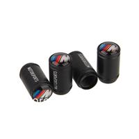 New Style High Quality Aluminum Alloy Car Tyre Tire Valve Stem Cap Fit For B-M-W M Black Universal