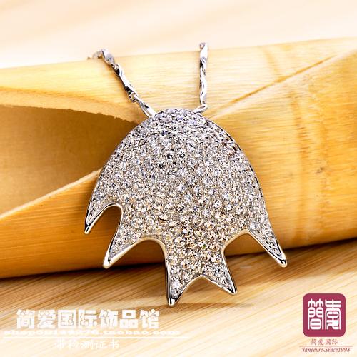 950 diamond necklace jewelry accessories artificial diamond high quality fashion fish 7603(China (Mainland))
