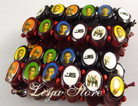 Leya Wholesale 24 pcs London JLS Wood bracelets wristband Fashion jewelry Free Shipping