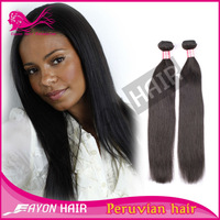 Eayon Hair Products Closure Peruvian Hair Straight Natural Color and 2bundles100% Virgin Peruvian Human Raw Hair Weft