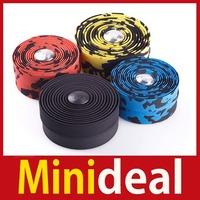rising stars [MiniDeal] 2Pcs Cycling Bike Road Bicycle Handlebar Tape Wrap + 2 Bar Plug Cork 4 Color Hot hot promotion!