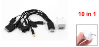 White EU Plug Charger Adapter 10 in 1 USB Multicharge Cable for Nokia N97 N70