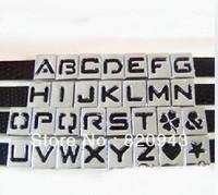 1300pcs 8mm hollow slide letters   DIY Accessories fit pet collars Wristbands Belts