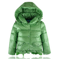 Female child down coat 2013 child down coat medium-long female child children's clothing baby winter