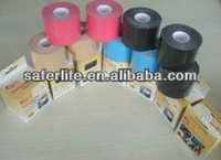 saferlife 5cmx5cm hot-sale fashion color elsatic therapeutic la cinta desporte la cinta la kinesiology tape