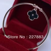 Lucky Jonvo  Rose gold plated   Valentine Gift Love bangle Fashion Bracelet four-leaf clover bangle Valentine bangle