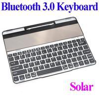 Brand New Top Quality Energy-Saving Solar Portable Slim Wireless Bluetooth Keyboard for New iPad 4 2 3