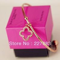 Wholesale Valentine Gift Love bangle Fashion Bracelet four-leaf clover bangle Valentine bangle Free Shipping