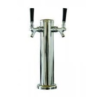 Two way stainless steel beer tower with two brass taps (factory oulet)