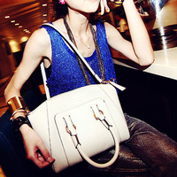 Free shipping 2013 casual fashion trend of the crocodile pattern vintage smiley female bags shoulder cross-body bag big bag