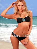New biquini for women bikini brazilian, girl sexy black biquini swimwear swimsuit 2013 free shipping sw055