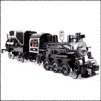 Vintage Reminiscence Classical Handmade Creative Decorative Antique Finishing Iron art Steamer Train Hanidcraft Furnishing