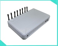 Free shipping wholesale 8Channels GOIP / GSM VOIP gateway for termination, Support VPN & IMEI change by EMS