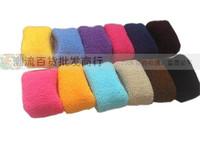12 Pcs /bag ! Hair Accessories Elastic Candy Color Large Thick Towel Fat Bars  Sport Headband