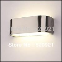 2013 Classic Fashion Aluminum+Acryl 205mm 85-265V 6W 5730 LED Wall Inconce Light Bathroom Mirror Lamp Aisle Stair Lighting