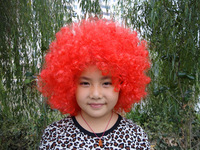 FreeShipping Fans wig halloween wig explosion cospiy dance wig clown wig