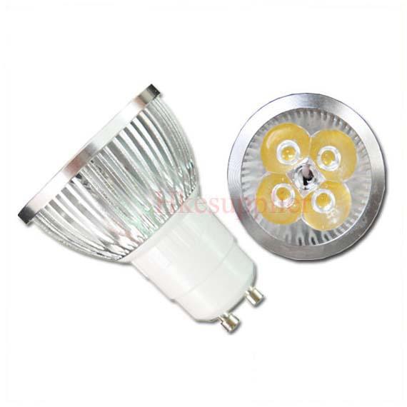 Free Shipping 4X1W GU10 High Power CoolWhite LED Lamp Light Bulb DIY(China (Mainland))