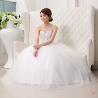Free shipping 2013 Suzhou Huqiu outlet selling fashion bandage lacing decoration paillette lace tube top wedding dress