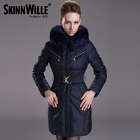 2013 fashion winter thickening plus size slim medium-long luxury women's 7160 down coat