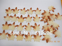 Silk Autumn Fall Leaves, Maple Leaves, Oak Leaves, Lot of 500 PCS, Free Shipping, Leave Shape #7