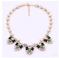 Min.order is $10(mixi items)Free Shipping!  Big brand  high fashion leaf luxurious rhinestone chokers necklace women jewelry