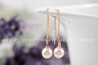 ROXI Christmas simple pearl Earrings,rose gold glated handmade fashion jewelry,2020042155