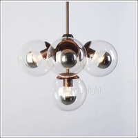 MODO molecular droplight bubble glass ball, wrought iron chandelier