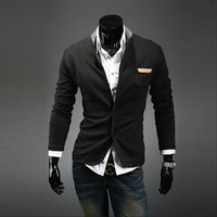 2013 New winter men's sweaters suit, Fashion men's winter Knitwear Knitted cardigan, Dark grey/ Navy blue / black, M-XL