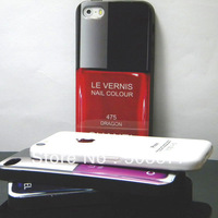 Le vernis Nail Polish for iphone 5 case 5S soft TPU with fashion popular design 1pc free shipping