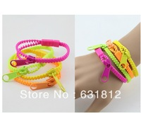 Bracelet female fashion neon color zipper multi-layer vintage fashion accessories HARAJUKU bracelet