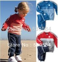 SHT322 Retail children sport suit 2 pcs set children cloth brand children clothing sport set children autumn set Free shipping