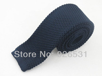 free shipping British fashion style restoring ancient ways tie navy flat head knit tie special hot sale men never out of date
