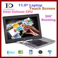 "Kingdel 11.6"" 360 Degree Rotating Touch Screen Laptop, Intel Celeron Dual Core CPU, 2GB RAM+320GB HDD,  Windows 8, Bluetooth"