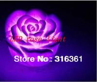 Romantic led rose light Rose Shape Waterproof LED Light drop shipping!