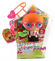 Free Shipping MGA Lalaloopsy Littles Doll Specs Reads-a-lot Lalaloopsy Figure Toy girls gift 20CM LLFG003